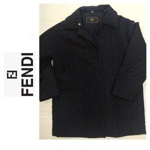 FENDI 365 Black Embroidered Coat